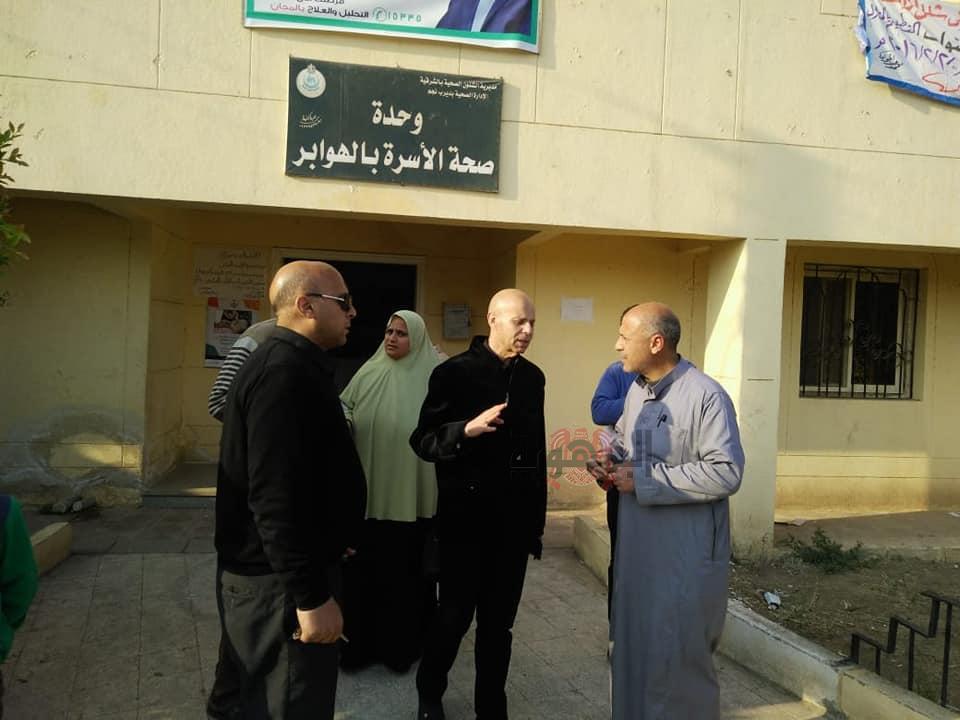 بالصور وكيل وزارة الصحة بالشرقية يتابع المبادرة الرئاسية بديرب نجم...