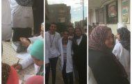 بالصور..  //جمعية صوت الأمة الخيرية تنظم قافلة رمد بقرية كرم بالمنصورة