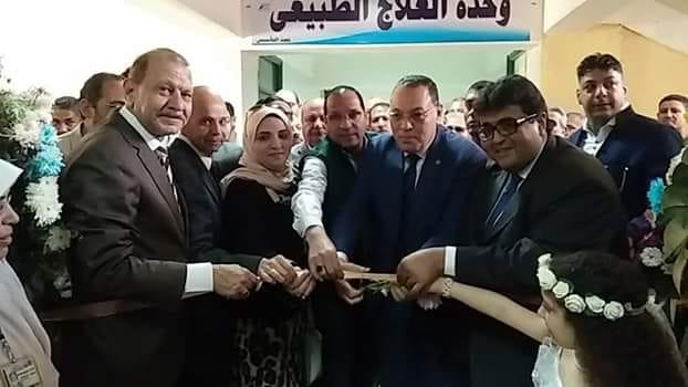 محافظ الشرقية ووكيل وزارة الصحة يفتتحون وحدة الغسيل الكلوي الجديدة بمنيا القمح
