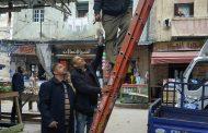 بالصور صيانة كشافات الكهرباء حي الجمرك لبلاغ مكتب اشرف رشاد
