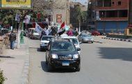 بالصور..فارس مياه الشرقية يقود مسيرة تأييد التعديلات الدستورية