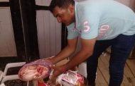 ضبط لحوم مفرومة منهية الصلاحية واجزاء دجاج ومخللات بها ديدان داخل ماركت بالإسماعيلية.