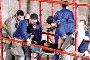 اصابه 3 عمال مصريين بانهيار حائط