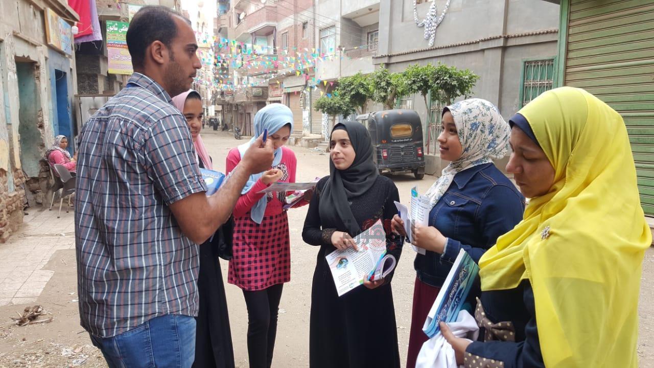 بالصور..حملة توعوية تجوب شوارع قري مركز ومدينة منيا القمح -شرقيه
