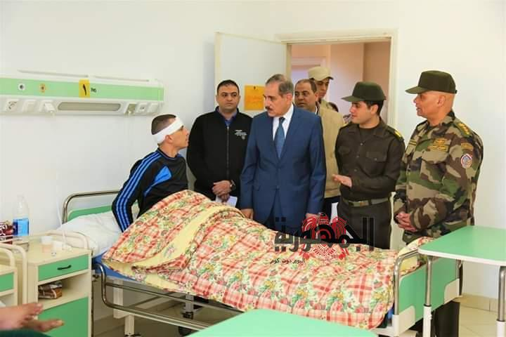 محافظ كفرالشيخ يتفقد المستشفى العسكري بغرب العاصمة.