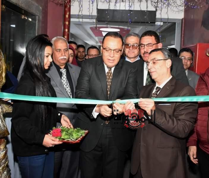 افتتاح معرض جامعة قناة السويس لمنتجات الوزارات و المؤسسات