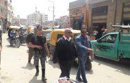 منع التجمعات و فض سوق وسط مدينة التل الكبير بالإسماعيلية