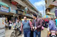 للحد من انتشار الكورونا  فض سوق مدينة فاقوس بالشرقيه