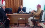 عمر إدريس : يجتمع بمدير الإدارة الزراعية لمعرفة إحتياجات المزارعين