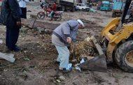 استمرار حملات النظافة ورفع التراكمات بمدينة فاقوس بالشرقية